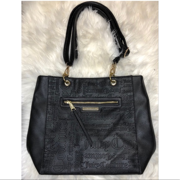 Juicy Couture black leather tote 🖤